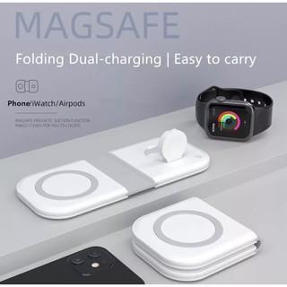 Bộ Sạc Không DâyHOCE Dual MagSafe Cho iPhone 12 Pro Max, Apple Watch, Airpods