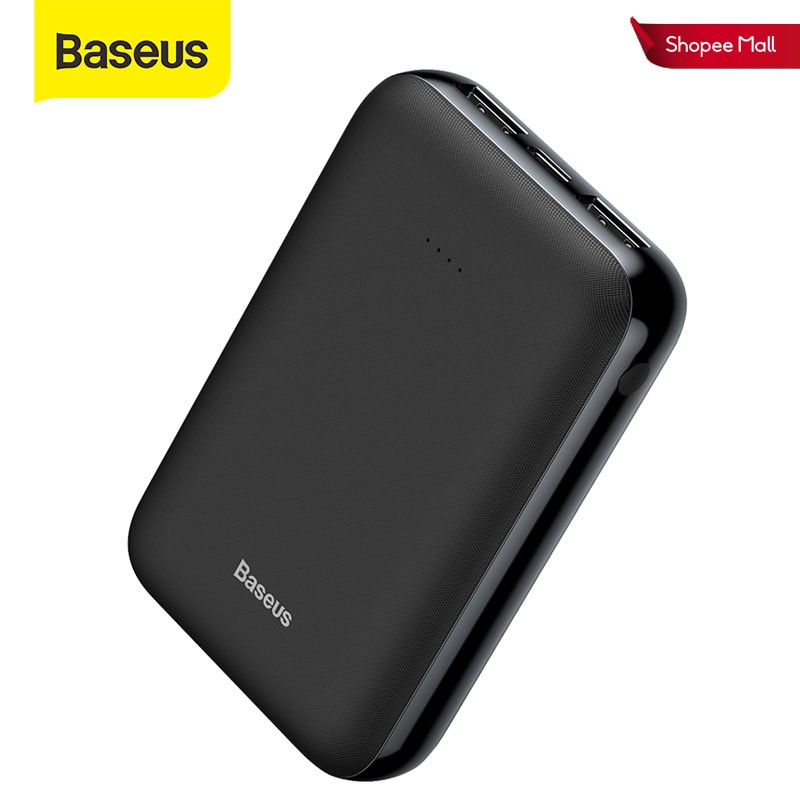 Sạc dự phòng Baseus mini 2.1A cổng USB đôi siêu bền tiện dụng 10000mAh