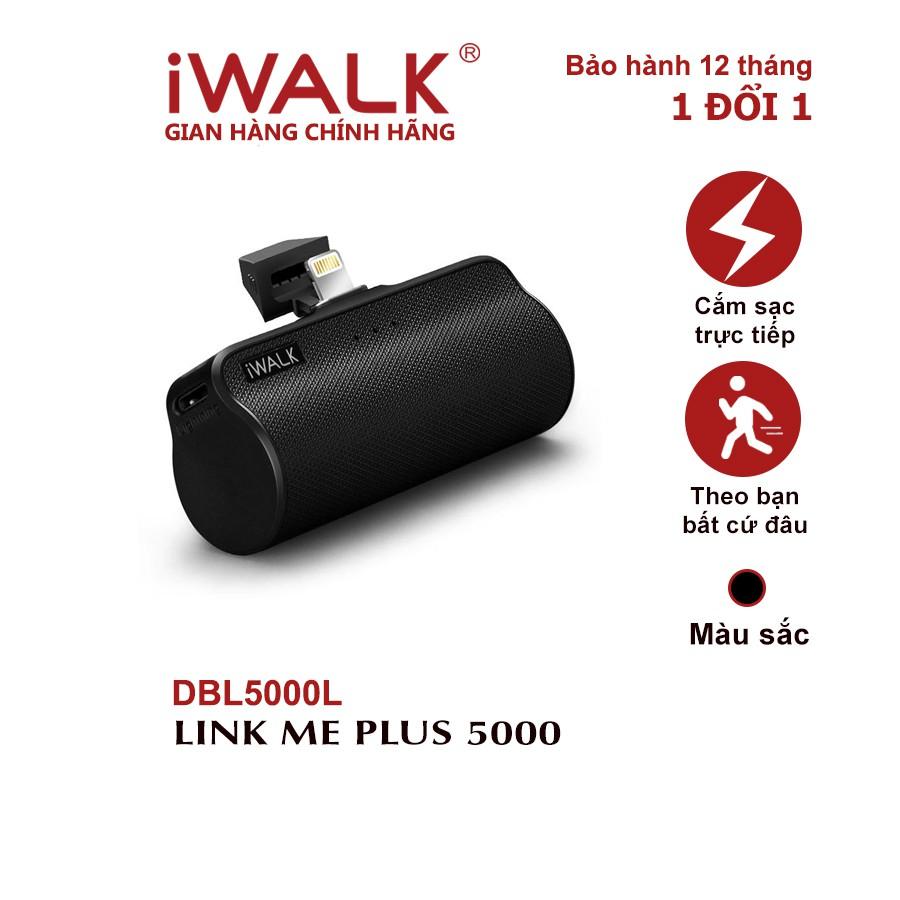 Pin sạc dự phòng iWALK Link Me Plus phiên bản 5000mAh Lightning cho iPhone - DBL5000L