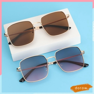 DORAW Fashion Glitter Eyeglasses Computer Ultra Light Frame Anti-Blue Light Glasses Women Portable Oversized Square Vintage Eye Protection