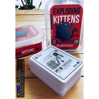 Bài Mèo Nổ Đỏ 102 lá song ngữ anh việt (Exploding Kittens Red) KGV-HL39