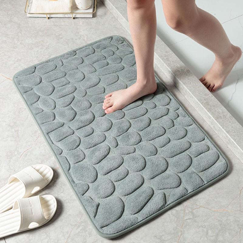 Thảm lau chân, thảm lông chùi chân siêu mềm siêu dày, siêu thấm nước, chất liệu chống trượt dành cho mọi gia đình