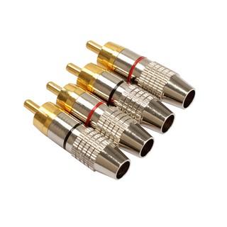 Set 4 đầu nối cáp âm thanh RCA chất lượng cao
