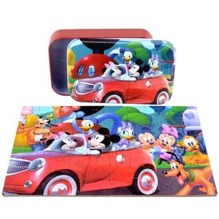 PUZZLE ghép hình chủ đề chuột Micky 60 MIẾNG (Hộp Thiếc)