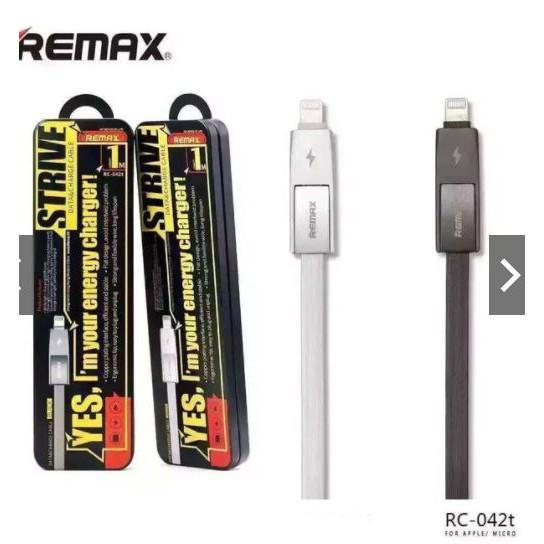 Cáp sạc đa năng 2 trong 1 iPhone và Android Remax RC - 042t - Dây Dẹt Chống Rối - Đèn Led báo đầy - - 2743229 , 1168262412 , 322_1168262412 , 140000 , Cap-sac-da-nang-2-trong-1-iPhone-va-Android-Remax-RC-042t-Day-Det-Chong-Roi-Den-Led-bao-day--322_1168262412 , shopee.vn , Cáp sạc đa năng 2 trong 1 iPhone và Android Remax RC - 042t - Dây Dẹt Chống Rối