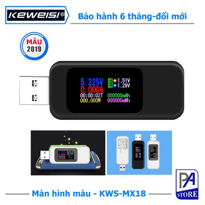 Thiết Bị Đo Dòng Điện, Điện Áp, Dung Lượng Pin, Test Thiết Bị-KEWEISI KWS-MX18-Màn Hình Màu Phiên Bản 2019
