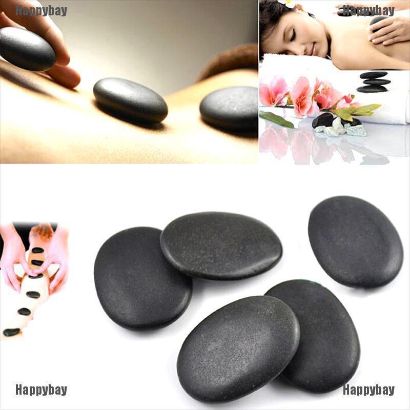 Happybay 7pcs/set Stone Massage Useful Basalt Rocks 3*4cm Size Black