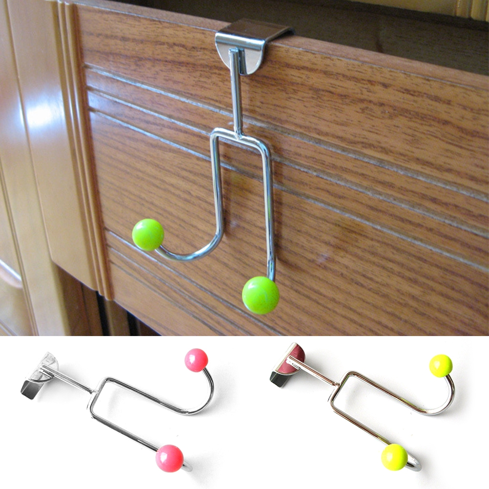 Multi Use Space Saving Durable Strong Load Capacity Hook Movable No Drilling Over The Door Stainless Steel Hangers