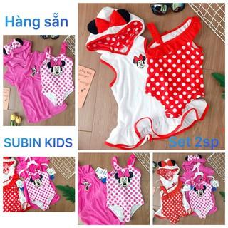 (ảnh thật) Set bơi cho bé SBBG44 sz 8-23kg đồ bơi bé gái tặng kèm áo choàng cute (hàng dư hịn, xấu hoàn hàng) SBBG45 thumbnail
