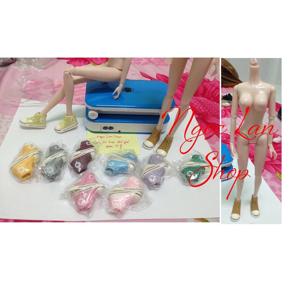 [Nhập mã TOYMAY15 giảm 15K] Giày bata nhựa cho búp bê Xinyi, Barbie, kexin