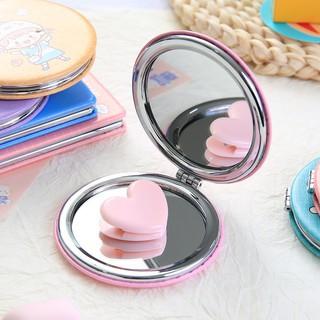 Gương mini cầm tay 2 mặt in họa tiết hoạt hình dễ thương