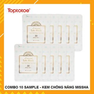 [COMBO 10 SAMPLE] Kem Chống Nắng Missha All Around Safe Block Total Moisture Sun Gel SPF30 PA++ thumbnail