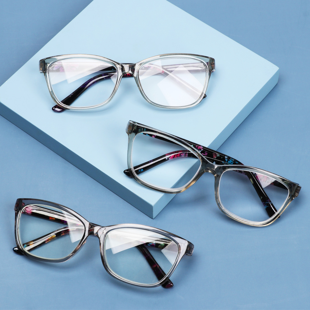 💍MELODG💍 Portable Floral Reading Glasses Radiation Protection Spectacle Frames Presbyopia Eyeglasses With Diopters +1.0~+4.0 Ultralight PC Frame HD Resin Lens...