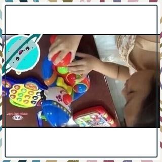 [HOT_SALE] (Nhựa chợ lớn an toàn cho bé) Đồ chơi trẻ em chú hề bỏ banh phát nhạc
