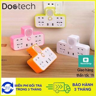 Ổ Điện Đa Năng Có Cổng Gắn USB, Sạc Điện Thoại Kiêm Đèn Ngủ
