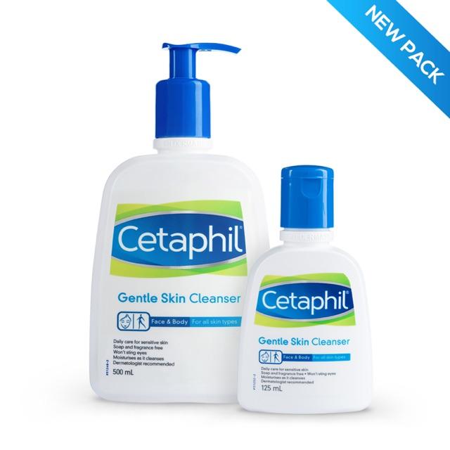 Sữa rửa cho da mặt & toàn thân Cetaphil Gentle Skin Cleanser 125ml và 500ml