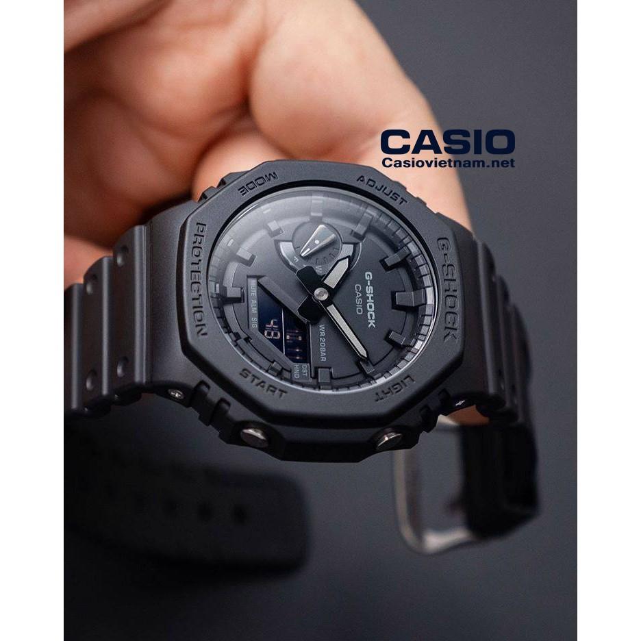 Đồng Hồ Nam Casio G Shock GA-2100-1A1DF Dây Nhựa Màu Đen - Cấu Trúc Lõi Carbon - Chố