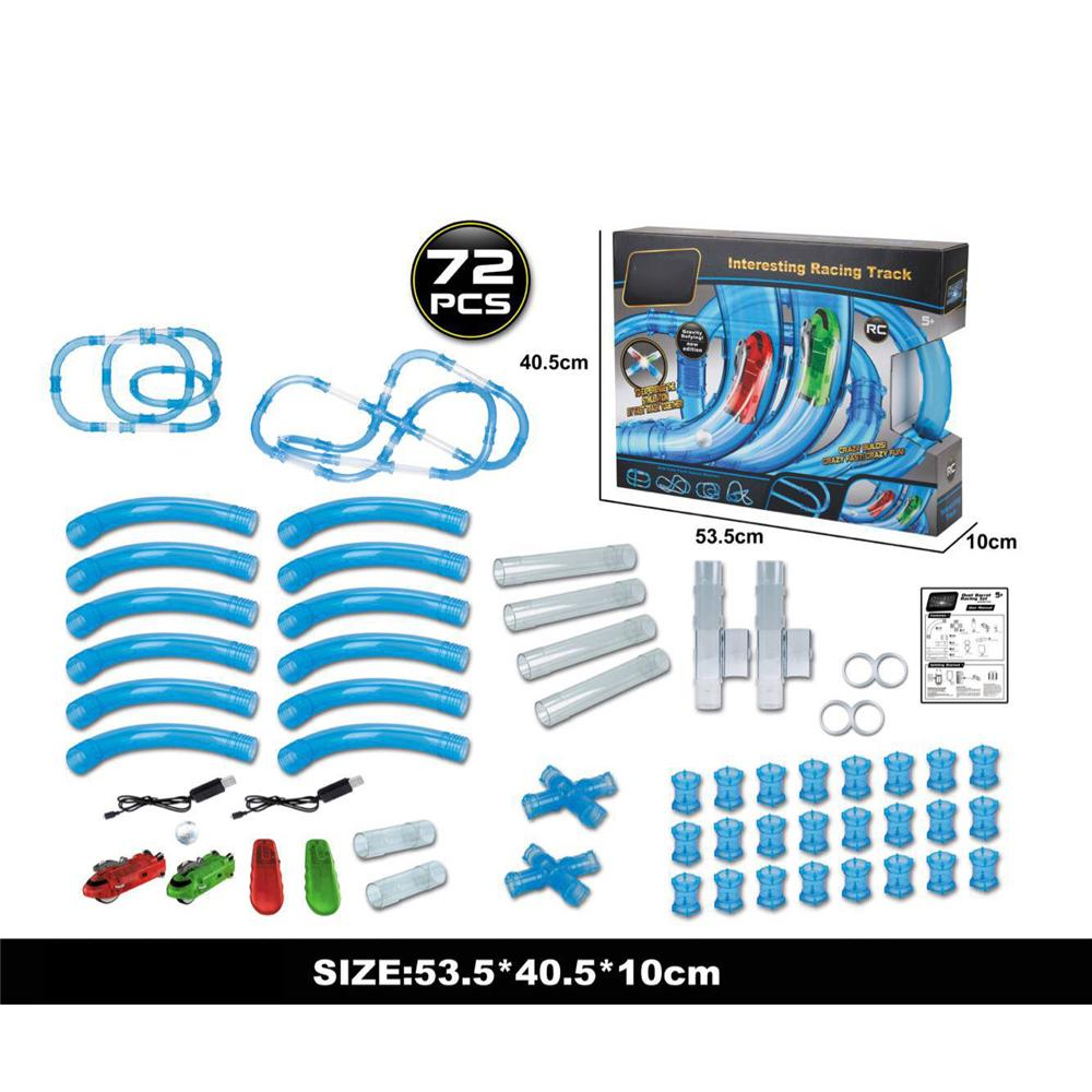 Rail car assembled electric high-speed track educational toys diy toy set