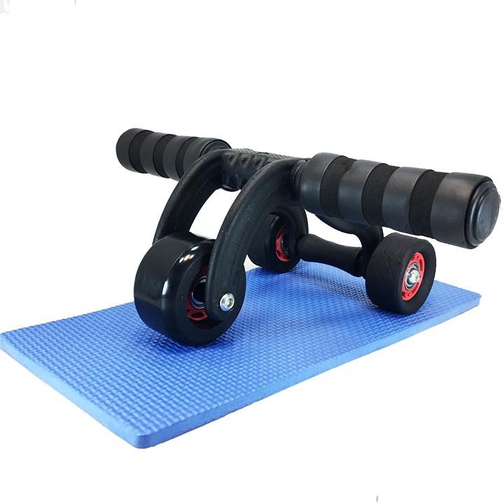 Bộ bánh xe tập thể dục 3 bánh+tặng kèm thảm
