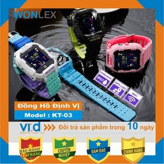 Đồng hồ định vị thông minh WONLEX KT03 - Wifi - Chống nước IP67 - Bảo hành chính hãng 12 tháng