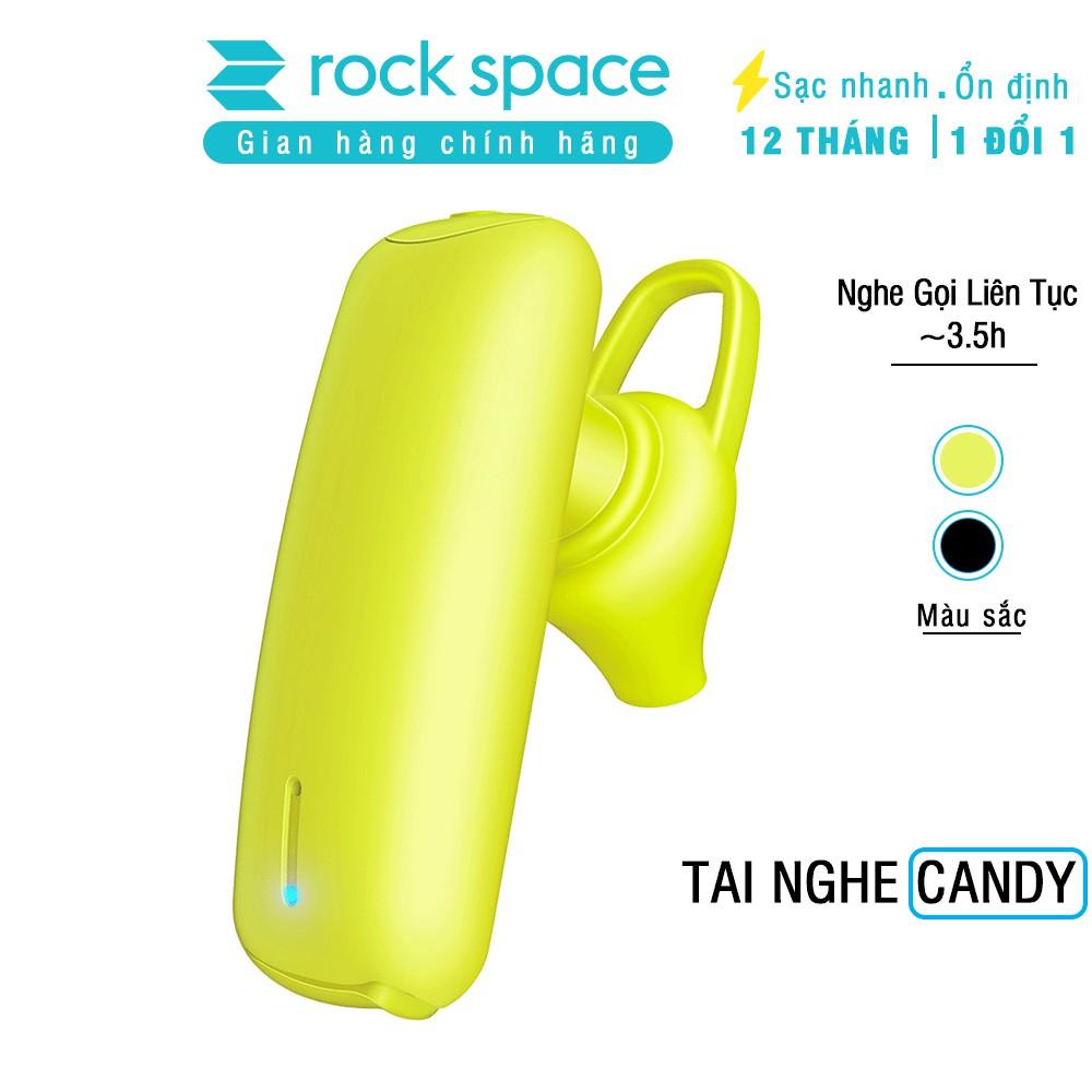 Tai nghe không dây đơn chống ồn Rockspace bluetooth Candy dành cho iphone, Samsung, Xiaome - Hàng chính hãng