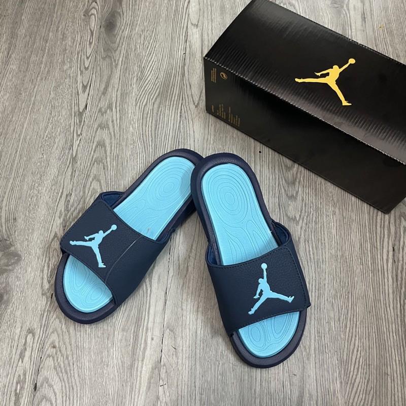 Dép jordan hydro rip 11 xanh cực đẹp (tặng Box Jordan)