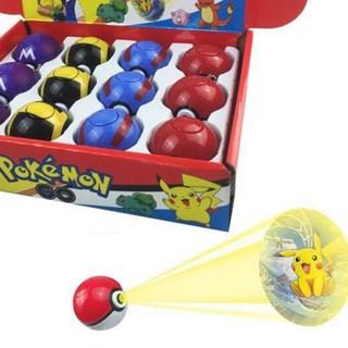 HÀNG CÓ SẴN -Mô hình quả bóng Pokemon móc chìa khóa trang trí