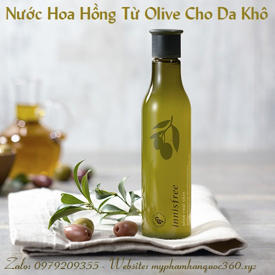 Nước Hoa Hồng Chiết Xuất Từ Olive – Innisfree Olive Real Skin