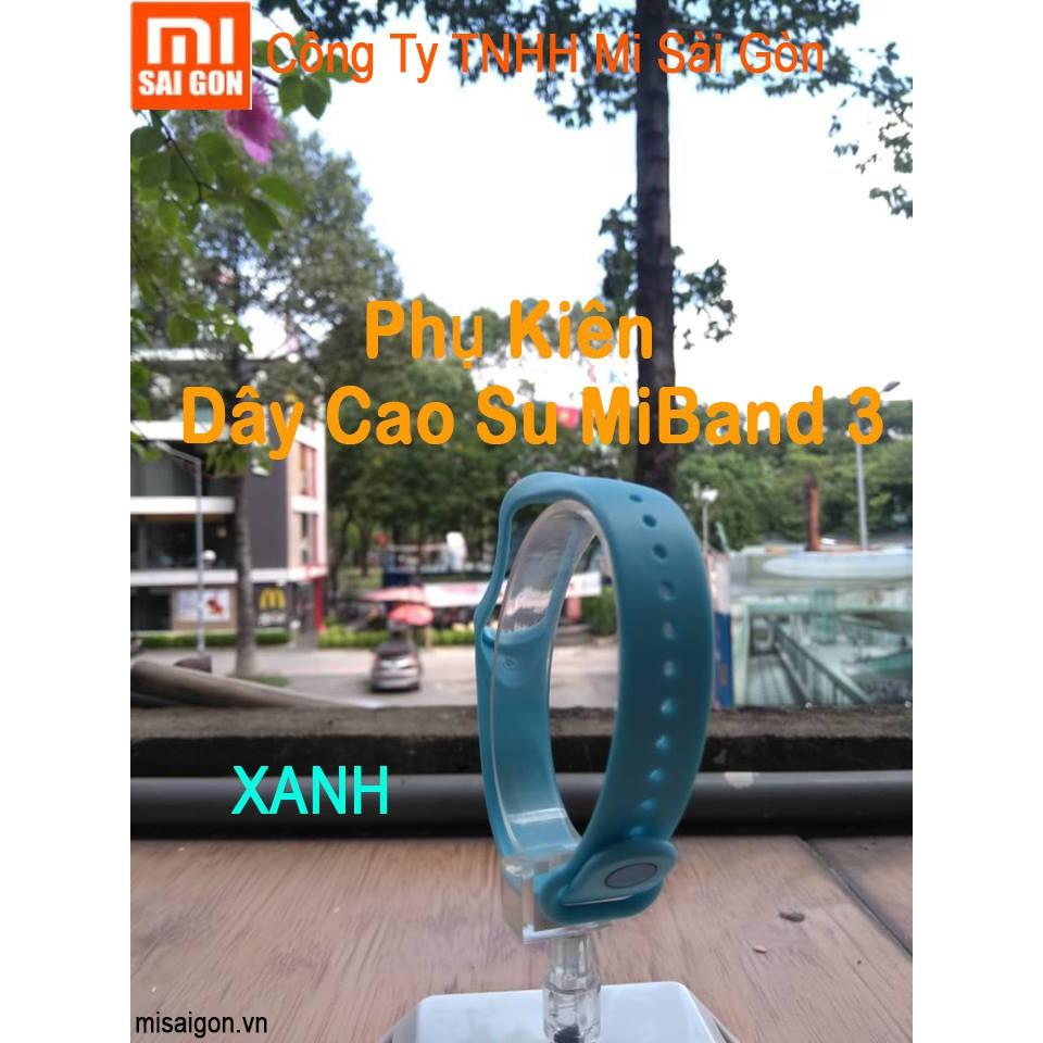 Dây cao su miband 3 ( dây thay màu XANH dương)