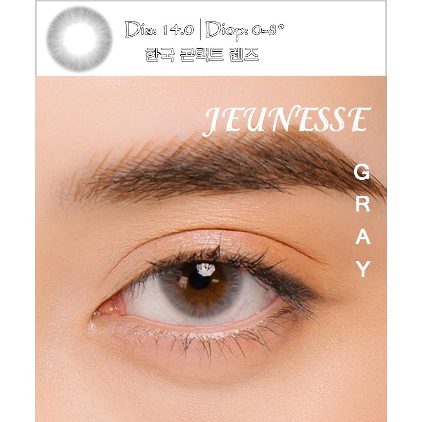 Kính áp tròng Hàn Quốc BLUE EYES JEUNESSE GRAY – Lens cận thời trang