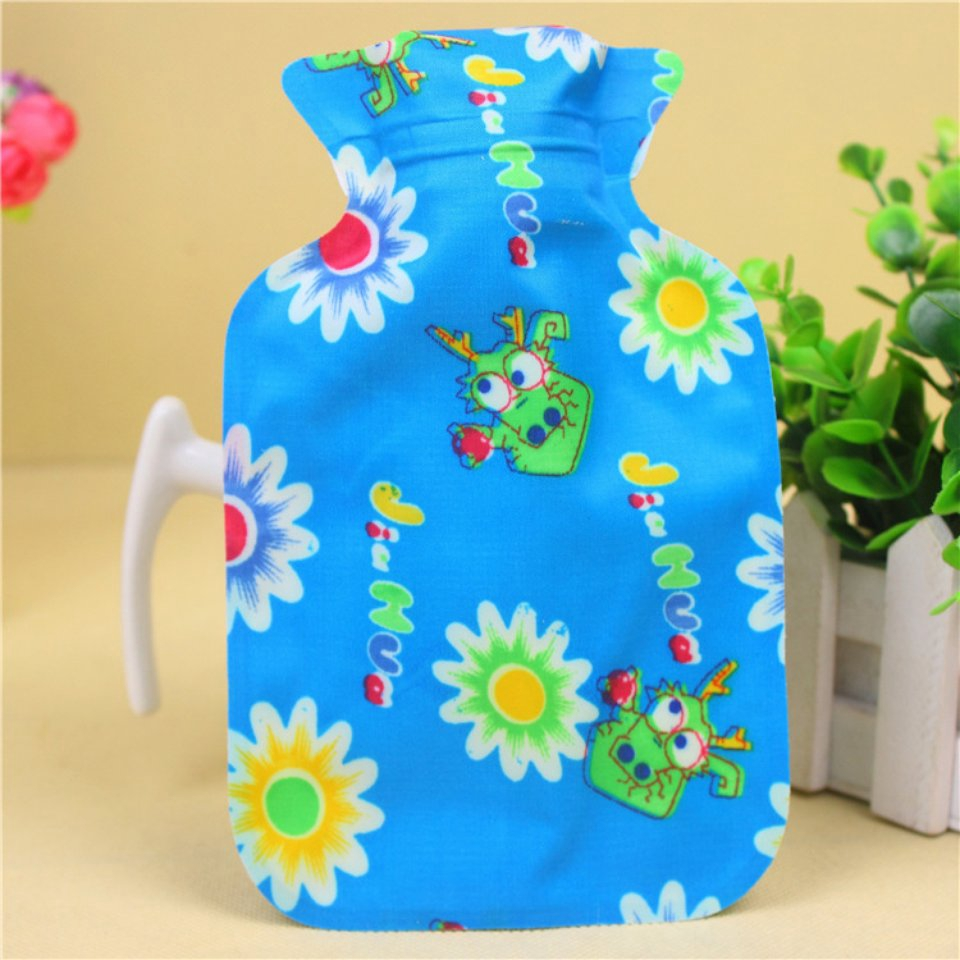 Hot water bottle portable hands and feet winter warm water bag flower style