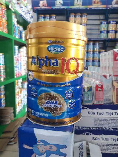 Sữa bột Alpha gold IQ 2 900g Mẫu mới nhất