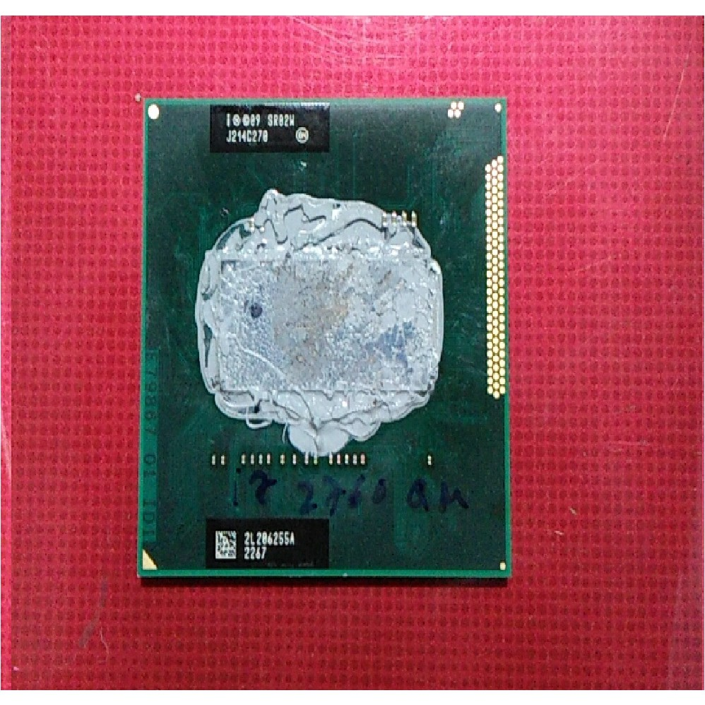 CPU laptop I7 2630QM thế hệ 2 dòng QM có 4 lõi và 8 luồng xử lý