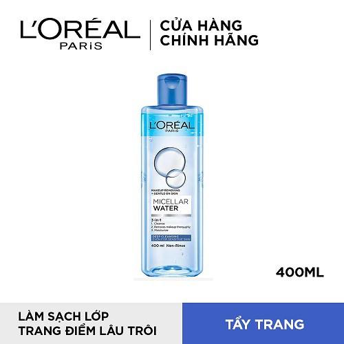 Nước tẩy trang cho mọi loại da L'Oreal Paris 3-in-1 Micellar Water 400ml
