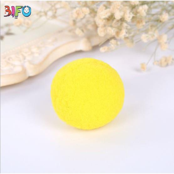 Combo đồ chơi bắn bóng + 10 bóng bông mềm