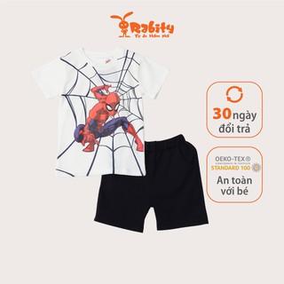 Bộ quần áo ngắn tay bé trai Rabity 5097.5098