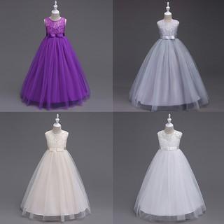 Đầm sát nách phối ren nơ xòe phong cách công chúa dành cho bé