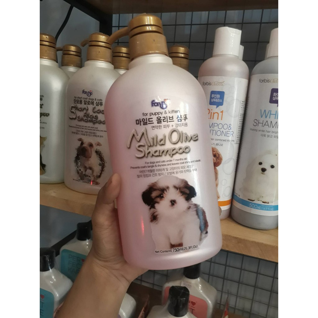Image result for forbis white shampoo Dầu tắm chuyên cho chó mèo lông trắng
