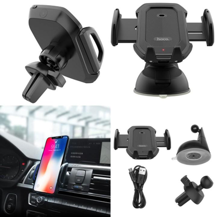 Giá đỡ điện thoại tích hợp cảm biến khóa tự động gắn taplo ô tô nhãn hiệu Hoco CA32 - Hàng chính hãng