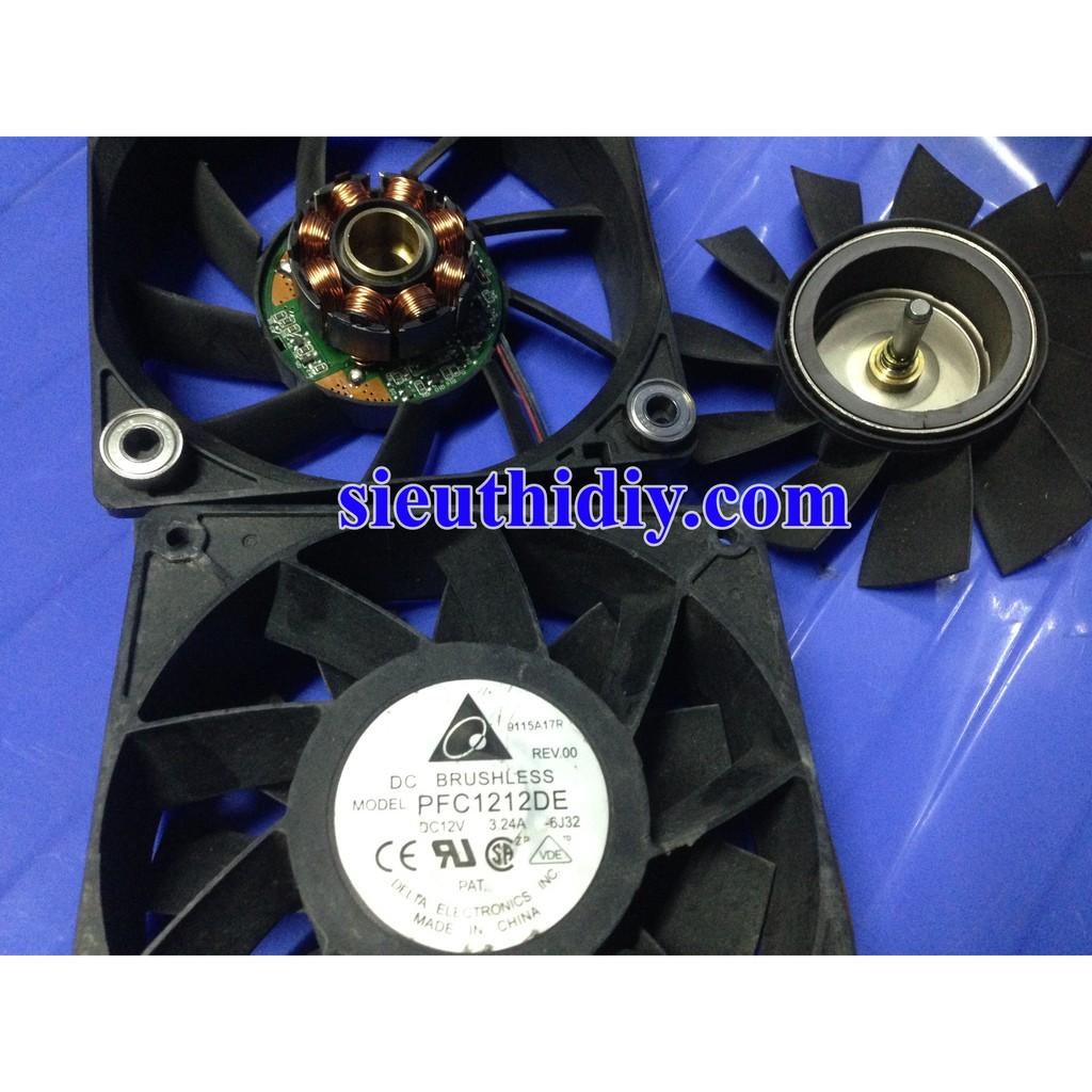 Quạt Fan 12 Delta PFC1212DE 12.038 12V 3.24A 12cm QuatSDIY