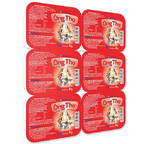 Sữa đặc có đường Ông Thọ đỏ vỉ 6 hộp 40g