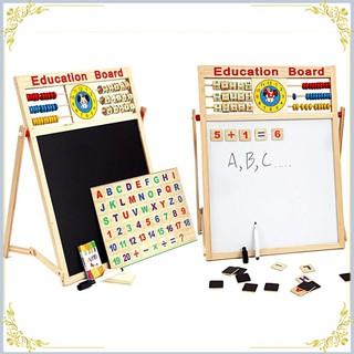 Sale Off- Bảng gỗ nam châm giáo dục 2 mặt cho bé viết vẽ, học số, học chữ cái [Siêu Đẹp]