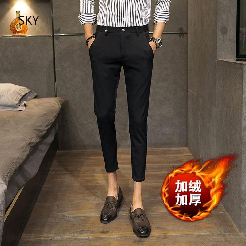 หลากสี ผู้ชายกางเกงขายาว ชายเสื้อผ้าคุณภาพ ถนน กางเกงขายาวกันหนาว แฟชั่น กางเกงขายาว ย้อนยุค กางเกงขายาวกางเกงขายาวกา