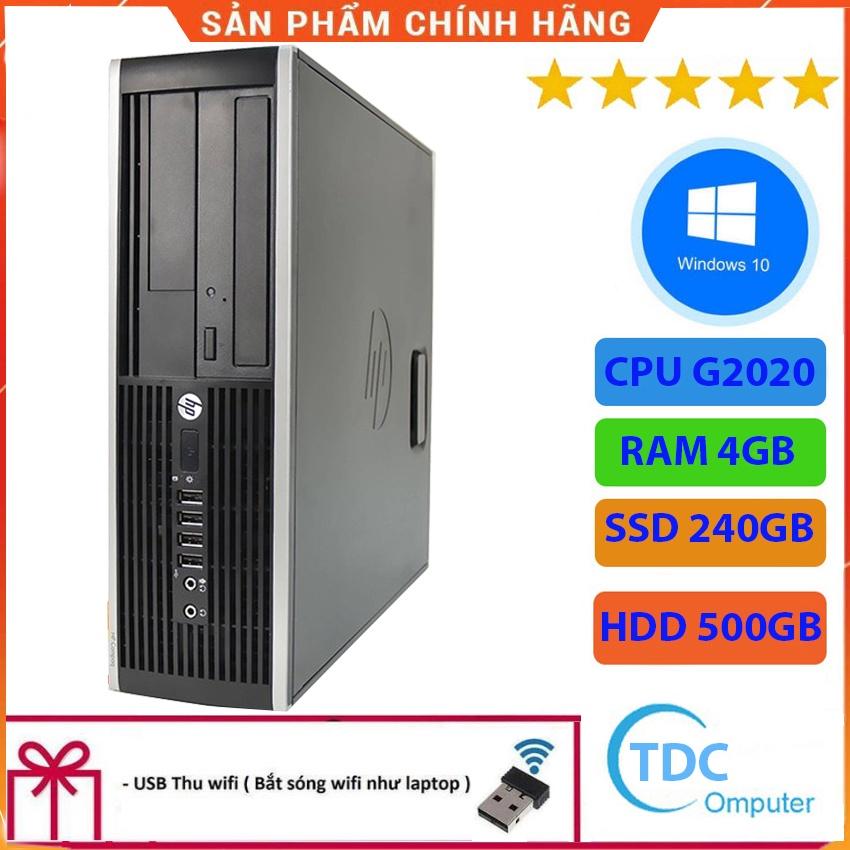 Case máy tính để bàn HP Compaq 6300 SFF CPU G2020 Ram 4GB SSD 240GB + HDD 500GB Tặng USB thu Wifi, Bảo hành 12 tháng