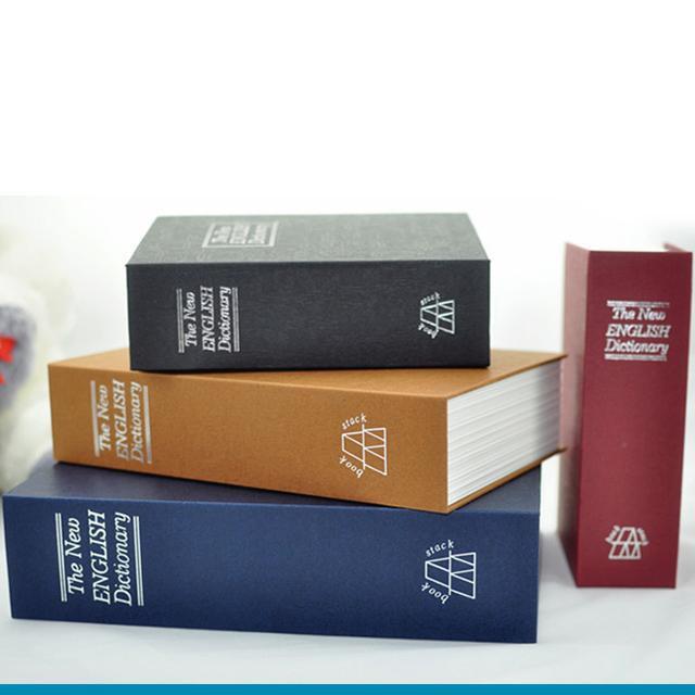 Két Sắt An Toàn Mini Ngụy Trang Cuốn Sách Từ Điển ( nhiều màu )