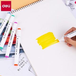 Hình ảnh Bút màu marker hai đầu Deli - Bút dấu dòng - Màu vẽ cao cấp - 70801-3