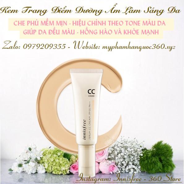 Kem Nền Trang Điểm Dưỡng Ẩm Làm Sáng Da Innisfree Serum Cc Cream Cover Spf 30 Pa++ - 9982480 , 406496488 , 322_406496488 , 325000 , Kem-Nen-Trang-Diem-Duong-Am-Lam-Sang-Da-Innisfree-Serum-Cc-Cream-Cover-Spf-30-Pa-322_406496488 , shopee.vn , Kem Nền Trang Điểm Dưỡng Ẩm Làm Sáng Da Innisfree Serum Cc Cream Cover Spf 30 Pa++
