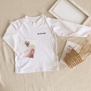 Áo cotton dài tay Why not now cho bé từ 12 đến 25kg thumbnail