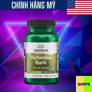 Tăng Testosterone Swanson Premium Yohimbe Bark - Standardized 75mg [100 Viên] - Tăng Hoocmon Nam Và Nữ - Chính Hãng thumbnail