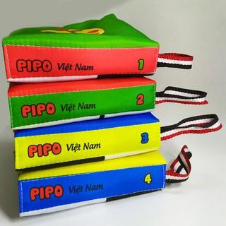 Sách vải Pipo - Kích thích thị giác- Song ngữ Việt - Anh thumbnail